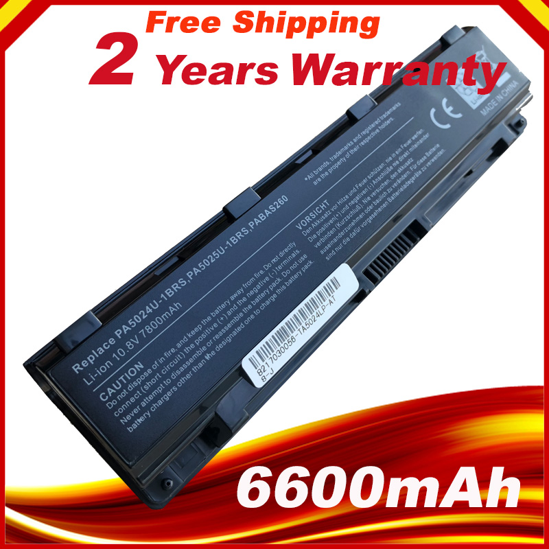 9 cells 6600mAh Battery For <font><b>Toshiba</b></font> <font><b>Satellite</b></font> C800 C840 C850 C870 L800 L830 L840 L850 L870 M800 <font><b>M840</b></font> P800 P840 P850 P870 C855 image