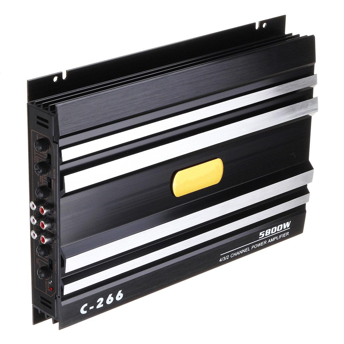 5800 ватт автомобильный аудио усилитель мощности 4 канала 12 В автомобильный усилитель звука для автомобиля для автомобилей разъем Усилитель-...