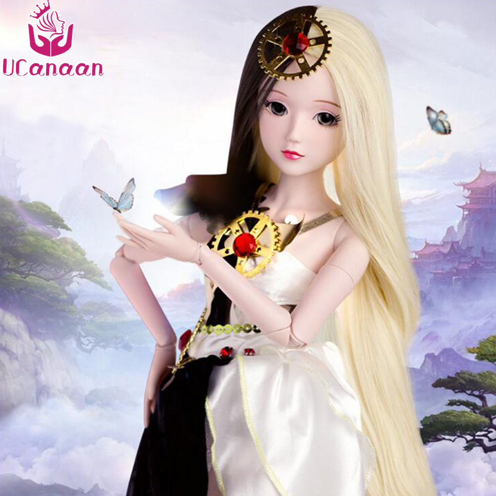 Ucanaan 1/3 BJD/SD Doll Moveable Jointed Include Dress up Fashion Fairyland Style Toys Dream Surprise Gift For Girls uncle 1 3 1 4 1 6 doll accessories for bjd sd bjd eyelashes for doll 1 pair tx 03