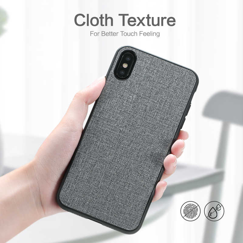 hot sale online 246ba be0d2 Case For Moto G6 play KISSCASE Original Leather Cloth Phone Case For  Motorola Moto G6 Plus Play Retro Fabric PU Case For Moto G6