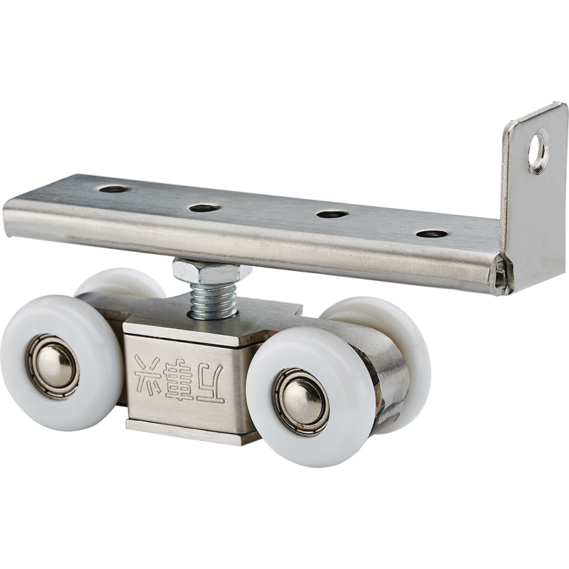 2pcs High load-bearing Sliding Door Roller 4 Wheels Home Wood Door Hanging Wheels Rail Track Pulley Furniture Hardware bqlzr wardrobe door cabinet door hardware stainless steel roller pulley small hanging rail with 4 wheels pack of 2