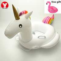 2019 New Baby SWIM RING UNICORN Float Inflatable BABY Seat Unicorn Swimming Baby Ring Float Pool Water Fun Unicorn Toys
