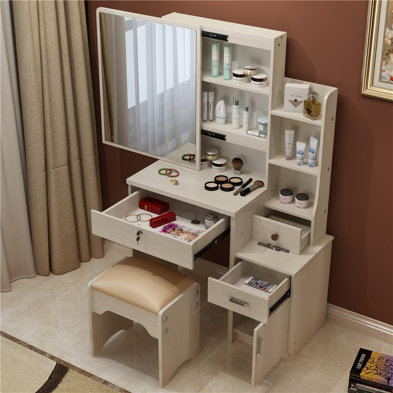 Avec Miroir Toaletka Makeup Box Mesa De Maquiagem Dresser Retro Vintage Wood Table Bedroom Furniture Korean Penteadeira