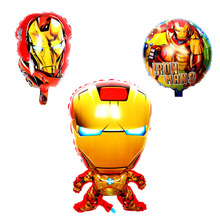 3pcs/s super heros helium balloon hero superman Captain ironman balloons kids inflatable aluminum Ballon birthday supplies