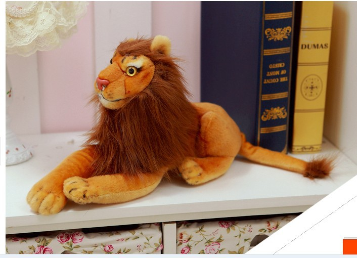 ФОТО lovely stuffed animal lion plush toys lying lion doll birthday gift  about 60cm