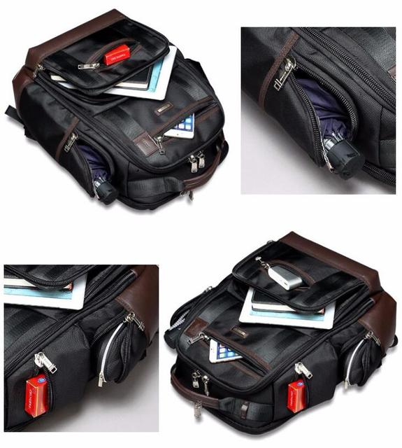Americano famosa marca multi bolsos homens mochila grande capacidade fim de semana viagem de volta pacote de negócios dos homens super mochila masculino 3