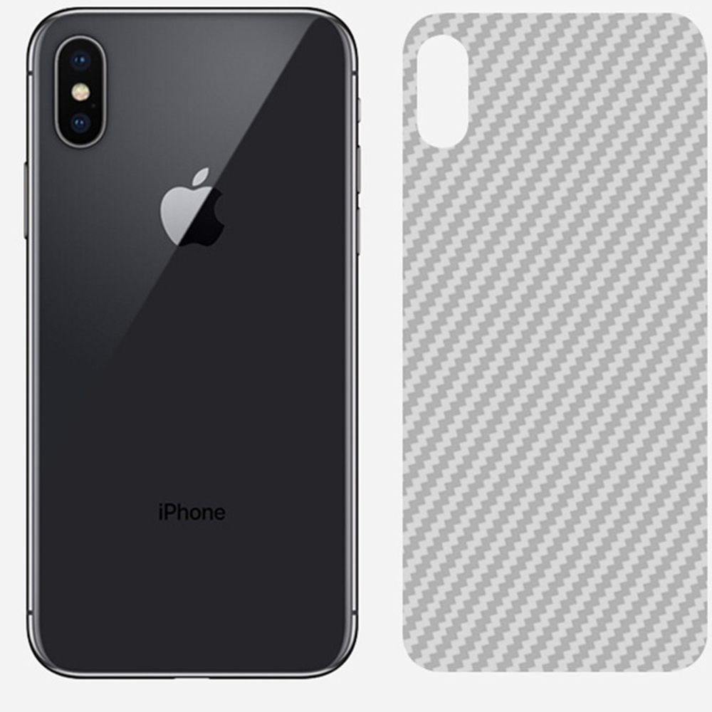 Image 2 - Buyruo Carbon Fiber Soft Back Screen Protector Sticker For apple iPhone XS Max XR Film full cover For iphone X 7 8 6 6S Plus-in Screen Protectors from Consumer Electronics