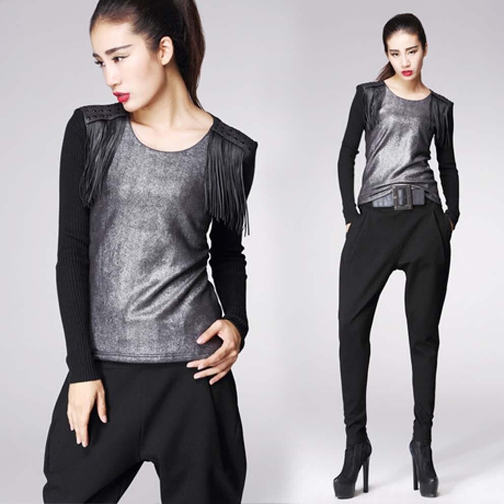 ღ ღnouvelles femmes fashion designer casual plaid glands épaule