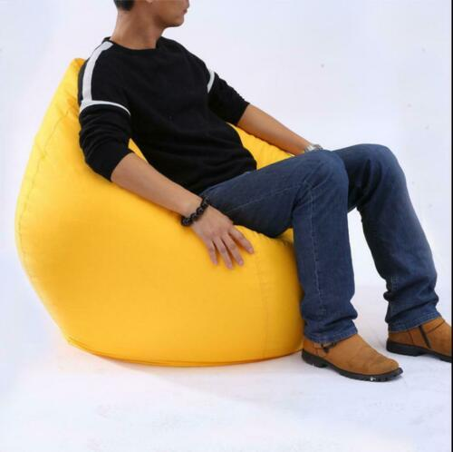 11 sólida Cores Extra Grande Cadeiras do Saco de Feijão para Adultos Crianças Sofá Cobrir Sofá Interior Espreguiçadeira Preguiçoso Macio Bonito Rainbow decoração Da Sua casa