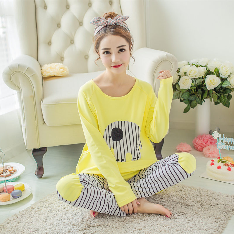 Spring and autumn cotton maternity home clothes long sleeved suckling month pregnant women postpartum feeding pajamas set psychiatric disorders in postpartum period