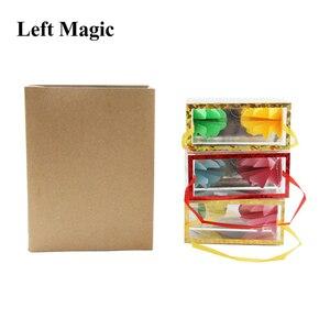 Image 5 - Mini Dream Bag/Verschijnen Bloem Doos (13*6.2*6.2Cm) goocheltrucs Super Delux Zak Verschijnen Bloem Lege Box Magic Props