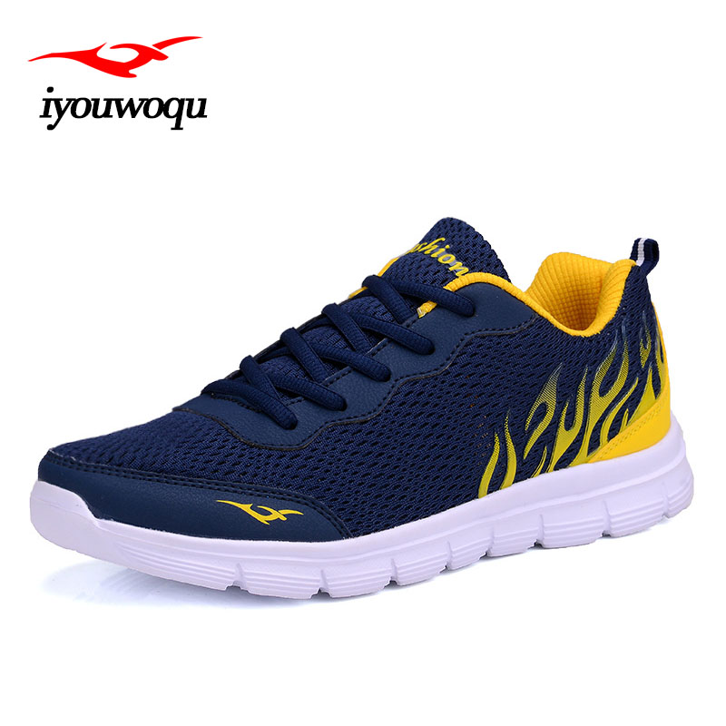 iyouwoqu 2017 Summer New Arrivals Fashion Men casual shoes Breathable mesh Lace-Up Men shoes Plus size zapatos hombre B06