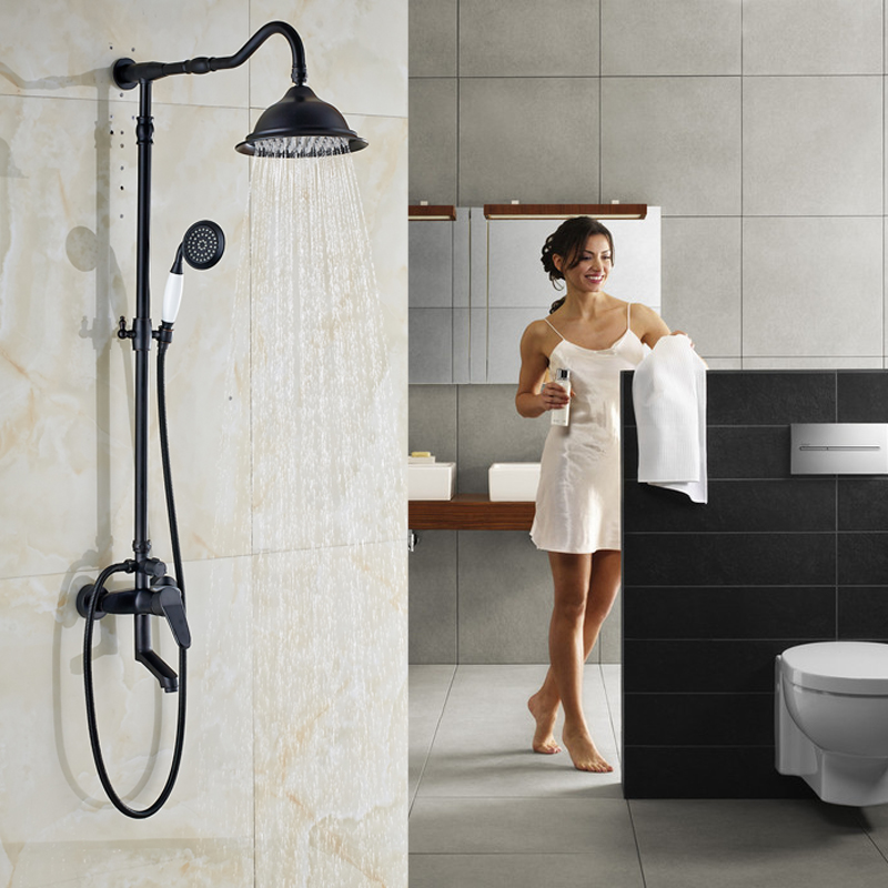 Single Handle in wall Outdoor Shower Faucet Set 8\