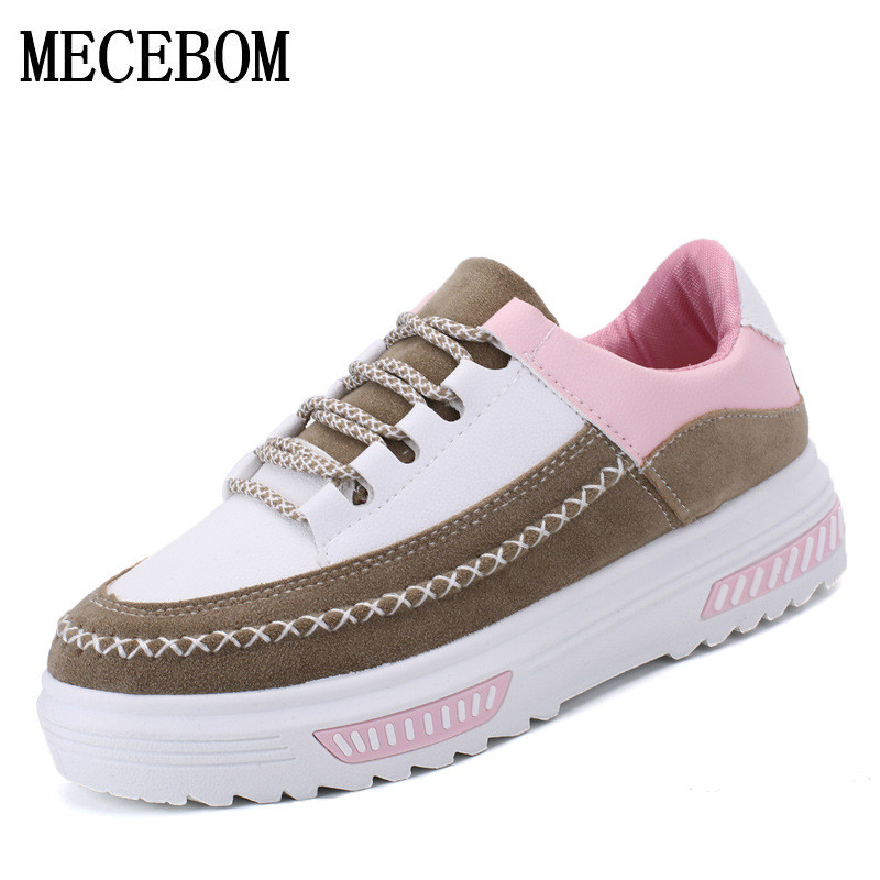 2017 Women casual shoes Platform Brogue woman Flats Shoes Patent Leather Lace Up Round Toe Luxury Brand Beige Creepers 3257W qmn women crystal embellished natural suede brogue shoes women square toe platform oxfords shoes woman genuine leather flats