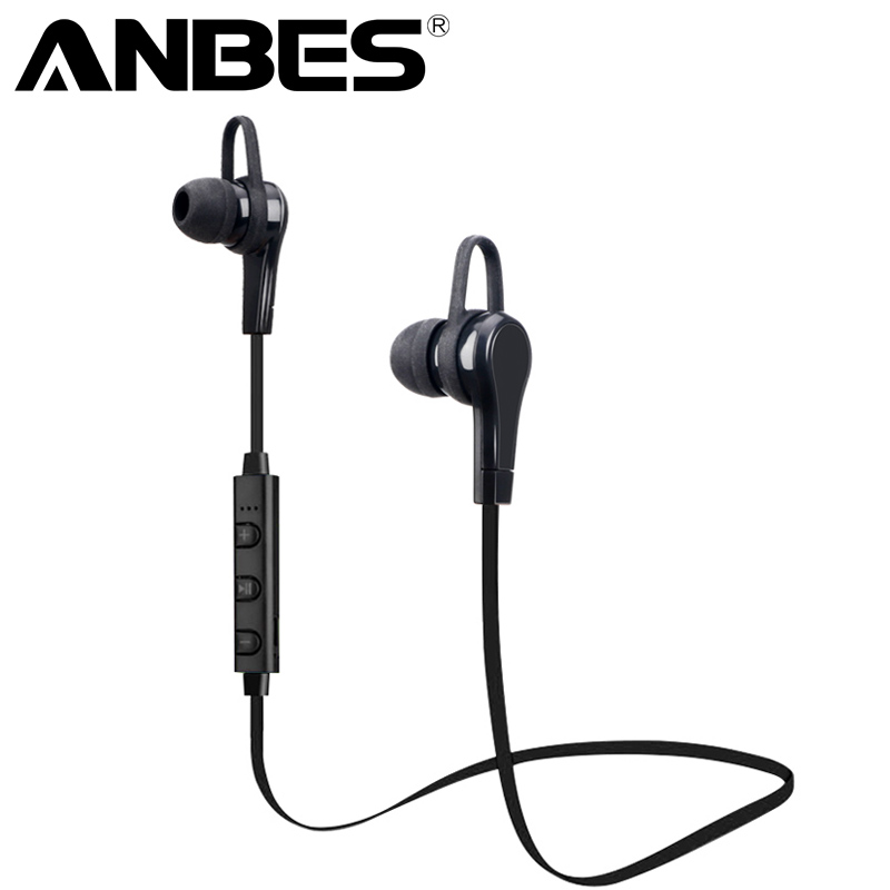 ANBES Stereo Bluetooth Sport Earphone Wireless Headphones Bluetooth Earbuds Handfree Headset With Mic for iPhone 7 xiaomi Phone