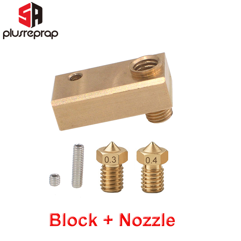 Modified Version Brass Heated Block For Ultimake 2 UM2 Printer 1.75mm Filament Fit 6mm Cartridge Heater And 3mm Thermocouple