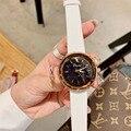 Прекрасные идеальные круглые часы для женщин  роскошные кристаллы  наручные часы  яркие цвета  натуральная кожа часы  кварцевые для девушек ...