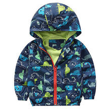 Kid Boy Waterproof  Windproof Hooded  Coats Jacket Children Rain Coat 2-6 Years