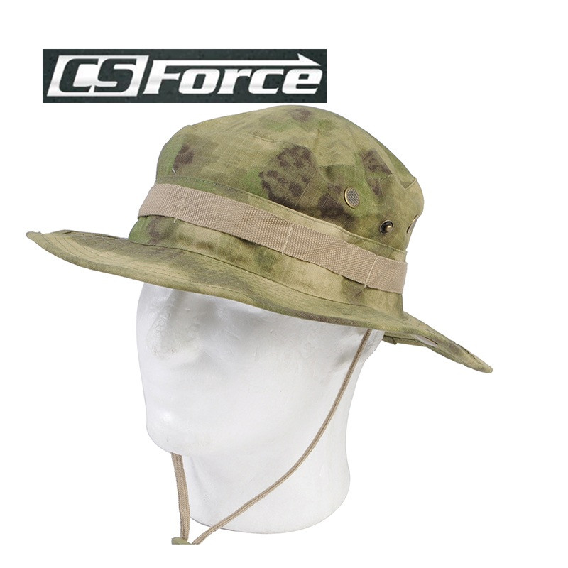 1a375d8f603 Airsoft Tactical Bucket Hat Military Camo Bucket Cap Outdoor Sports Shade  Wide Brim Boonie Hat Camping Hiking Fishing Caps Mens-in Fishing Caps from  Sports ...