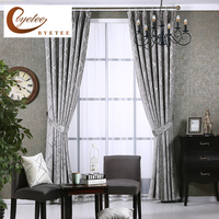 Luxury Chenille Jacquard European Living Room Bedroom Kitchen Blackout Curtains For Cortinas Curtain Fabrics Cortina Drapes