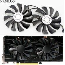 2 قطعة/المجموعة P106 GTX 1060 GPU VGA برودة ل MSI غيفورسي GTX1060 GTX 1060 6GT OC INNO3D GTX 1060 6GB بطائق جرافيك الفيديو التبريد