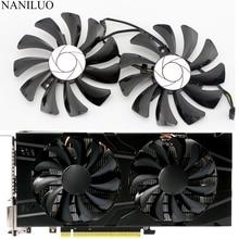 2 pçs/set P106 VGA cooler Para MSI GeForce GTX 1060 GPU GTX1060 GTX 1060 6GT OC INNO3D 6 GTX 1060 GB placa de vídeo Placa Gráfica arrefecimento