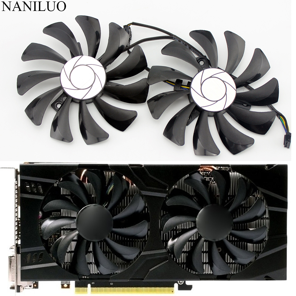2pcs/set P106 GTX 1060 GPU VGA Cooler For MSI GeForce GTX1060 GTX-1060-6GT-OC INNO3D GTX 1060 6GB Video Graphics Card Cooling