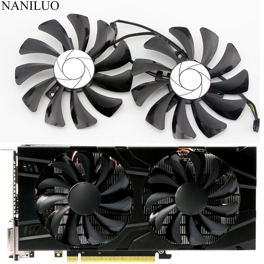 2pcs/set P106 GTX 1060 GPU VGA Cooler For MSI GeForce GTX1060 GTX-1060-6GT-OC INNO3D GTX 1060 6GB Video Graphics Card Cooling