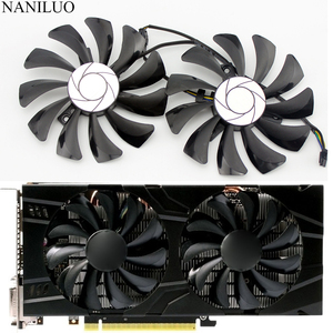 2pcs/set P106 GTX 1060 GPU VGA cooler For MSI GeForce GTX1060 GTX-1060-6GT-OC INNO3D GTX 1060 6GB video Graphics Card cooling(China)