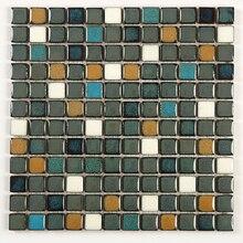 DIY смешанные цвета мозаичная плитка для ванной, кухни, гостиной, бассейна, крытый и открытый