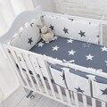 Звезды Постельные Принадлежности, многофункциональный Baby Safe Спальный Детская Кроватка Бамперы Набор