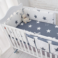 Star Bedding Set,Multi-functional Baby Safe Sleeping Baby Bed Bumpers Set