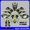 TOP QUALITY KLX250 2008 - 2015 NUMBER 3 GREEN BACKGROUND MOTORCYCLE 3M GRAPHICS DECALS STICKERS KITS OFF ROAD MOTORCROSS