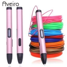 New 3d pen with 100 meter 10 colors pla filament & EU adapter 3 d printing pen Smart Child birthday gifts graffiti pen-3d model