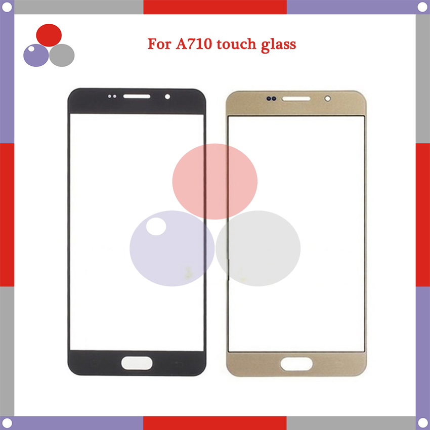 10pcslot High Quality For Samsung Galaxy A7 2016 A710 A710F Touch Panel Glass Front Glass Lens Screen