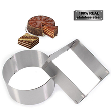 2 pcs/set Stainless Steel Chocolate Cake Mold Adjustable Confectionery Moulds Baking Accessories Cake Decorating Pastry Tools