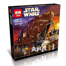 2016 New LEPIN 05038 3346Pcs Star Wars Force Awakens Sandcrawler Model Building Kit Minifigure Blocks Brick Compatible Toy 75059