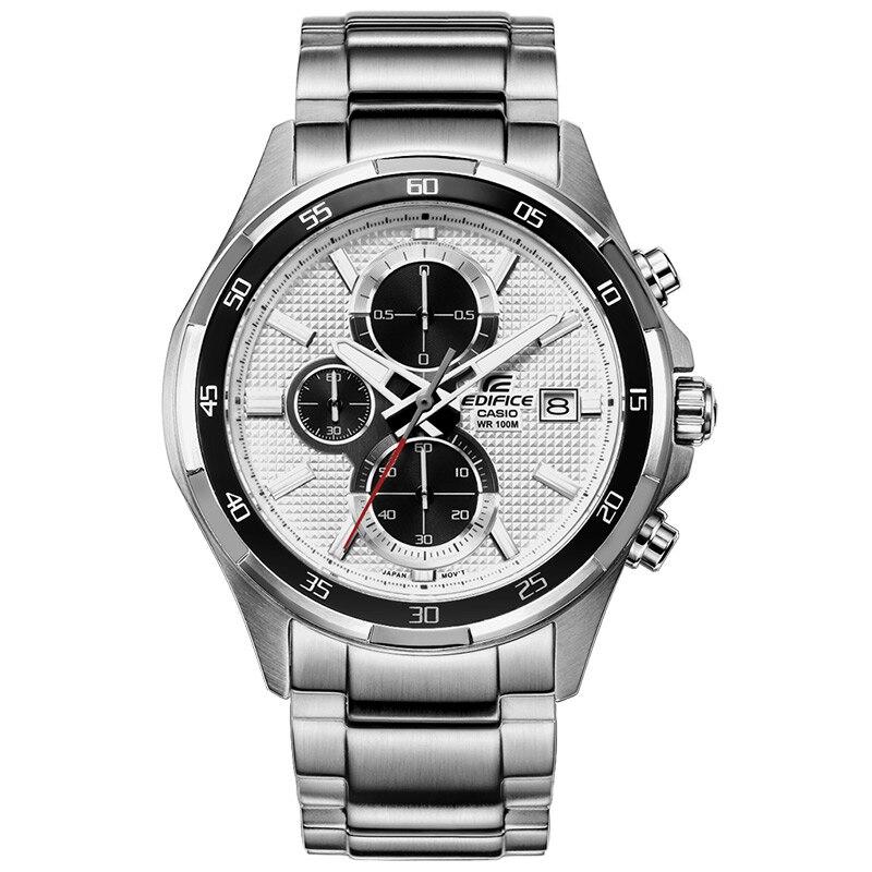 Casio fashion business quartz watch men edifice series waterproof watch white plate steel belt EFR-531D-7A Wristwatch relogio все цены