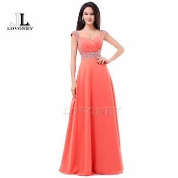 b1ea9d504a 2019 nuevo diseño Sweetheart Chiffon cordón piso-longitud Vestido De noche  vestidos formales Vestido De Festa S321