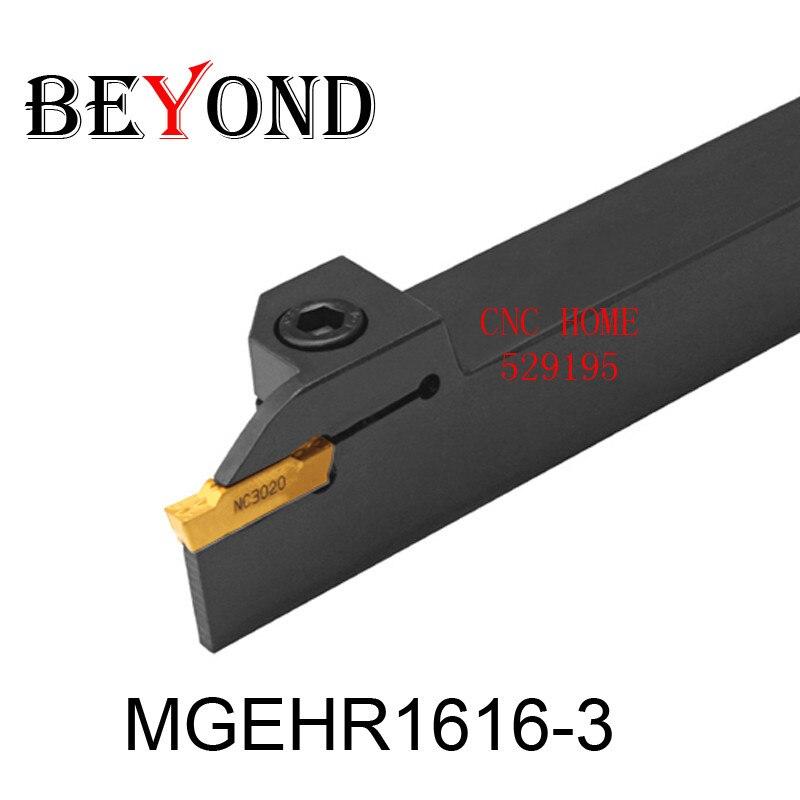 BEYOND Factory Outlets MGEHR MGEHL MGEHR1616-3 MGEHL1616-3 Vnější soustružnický soustruh Držák vyvrtávací lišty cnc Soustružnické nástroje