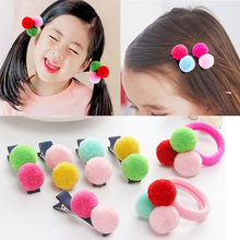 LNRRABC Trendy 1PC Cute Sweet Colorful Little Ball Children Girls Hair Clips Band Accessories