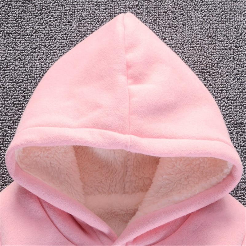 Baby Girl Boys Clothes Winter Thick Warm Children's Sweatshirt  Toddler Casual Hoodies for Girls Kids Plus Velvet Tops Costume 5