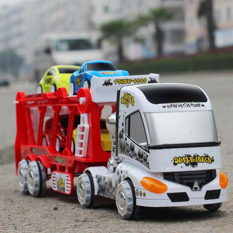 1 Set Kawaii Baby Toys Accessories Cute Truck Series Double Trailer Education Play House Baby Girl S