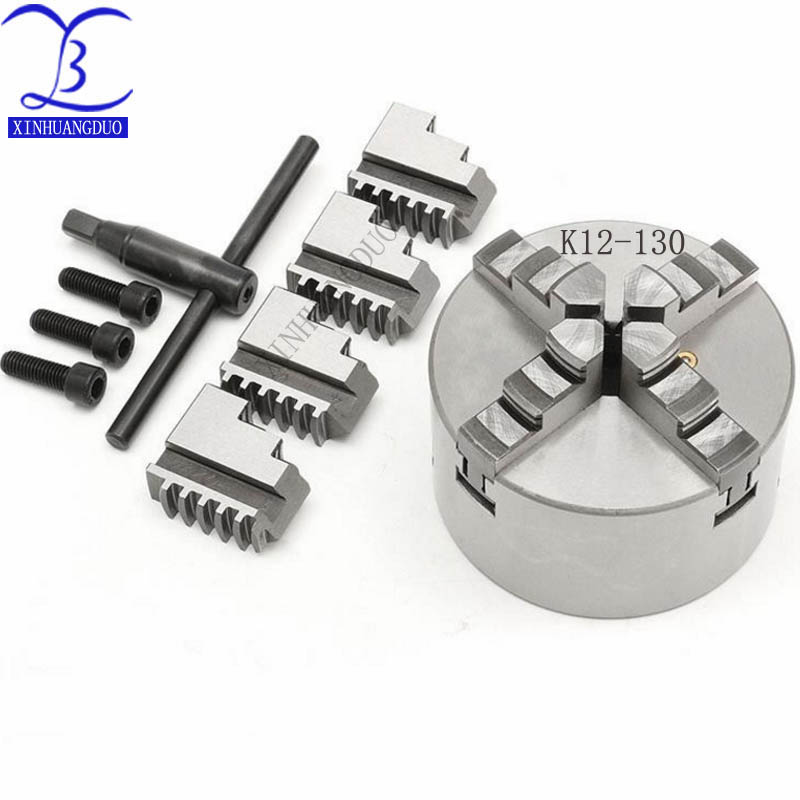K12-130 4 jaw chuck/ 130MM manual lathe chuck/4-Jaw Self-centering Chuck Hardened Steel for Drilling Milling MachineK12-130 4 jaw chuck/ 130MM manual lathe chuck/4-Jaw Self-centering Chuck Hardened Steel for Drilling Milling Machine