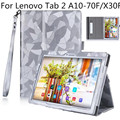 Ultra fino e leve tri-fold multi-ângulo stand pu caso capa de couro para 10.1 polegada lenovo tab 2 a10-70f/a10-30 tablet