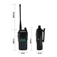 מכשיר הקשר 2pcs מכשיר הקשר CB רדיו Baofeng UV-82 Dual Band 136-174 / 400-520 MHz FM משדר Ham שני הדרך רדיו FM משדר 8W מתח (5)
