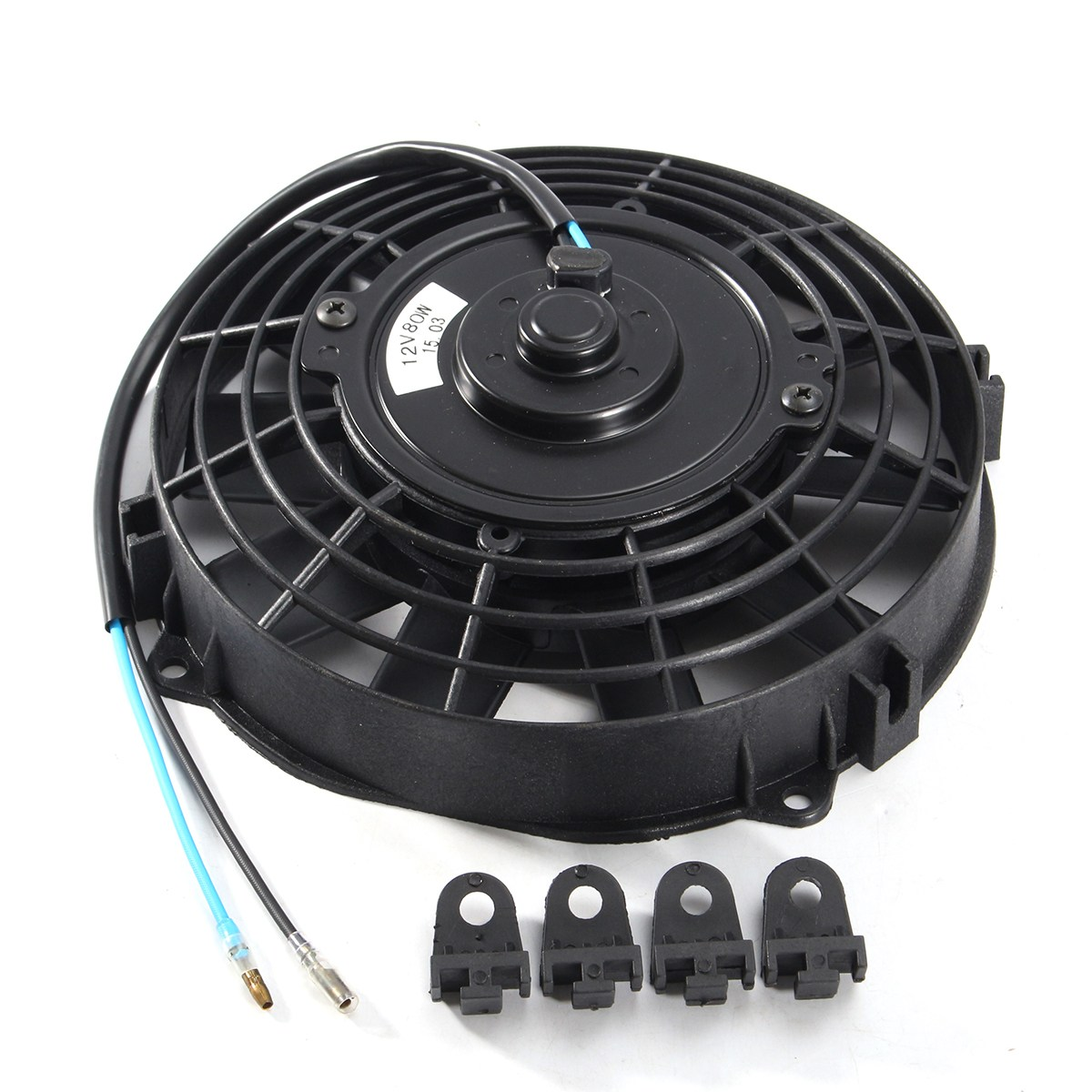 Image 3 - Universal 8 9 10 12 14 Inch 12V 80W 2100RPM Straight Black Blade Electric Cooling Radiator Fan Kit-in Fans & Kits from Automobiles & Motorcycles