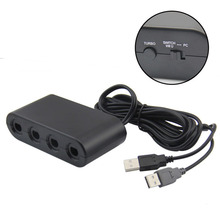 4 Ports For GameCube GC Controllers USB Adapter Converter for Nintendo WiiU PC  Game Accessory For NS Switch