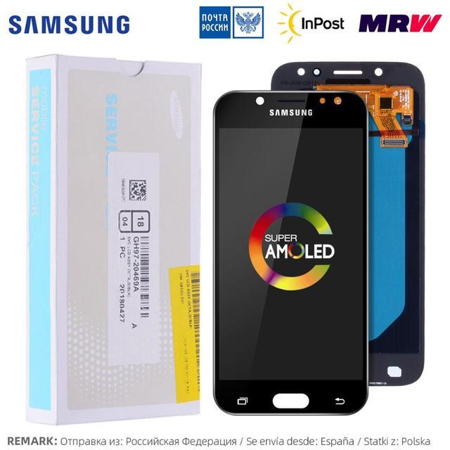 "5.2"" AMOLED Pantalla Para SAMSUNG Galaxy J5 Pro 2017 LCD Display J530 Cristal Táctil digitalizador Asamblea Completa J530F J530FM SM-J530F J530G/DS"