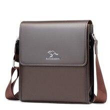 New Arrival Business Men Messenger Bags PU Leather Vintage M